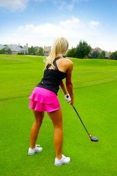 Pleated Ruffle Golf Skirt - Classic Pink