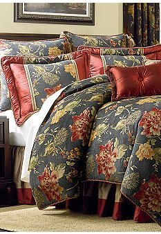 Biltmore® For Your Home Plumage Bedding Collection Maine, Bedroom Black, Black Bedrooms, Master Bedroom, Country Bedding, Tuscan Decorating, Decorating Ideas, Decor Ideas, Bedding Shop