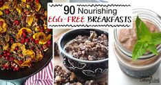 Allergic or sensitive to eggs? Tired of eggs for breakfast? Boy, are you in luck! How about an enormous round-up of 90 nourishing, egg-free breakfasts? Free Breakfast, Breakfast Recipes, Gaps Diet Recipes, What Recipe, Allergy Free Recipes, Egg Free, Food Preparation, Tired, Meal Planning