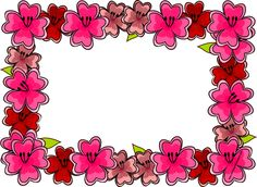 FREE digital bright #flower #frame png - free download - transparent background  - or use it as printable writing paper