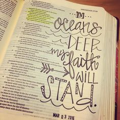 No color today but I love this verse. We do not fear and are not anxious for our trust is in the Lord.  #biblejournaling #illustratedfaith #biblejournalingcommunity #jeremiah17 http://ift.tt/1KAavV3