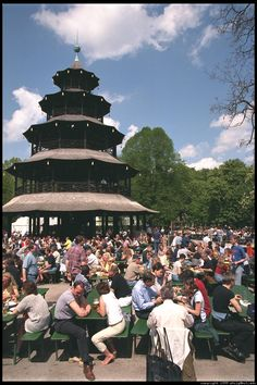 Miss sitting out here and drinking Radler in the summertime:)   Chinese Tower in the English Garden - Munich, Germany