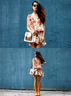 love this romper! but boots? maybe end them by April. but this weather, perfecto!