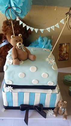 3D Fondant Bear Cake topper by SweetCraftCreations on Etsy
