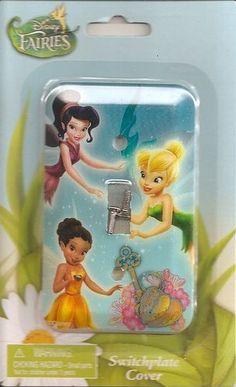 1 X TINKERBELL & FRIENDS Disney FAIRIES Light Switch Wallplate