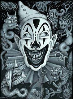 Clown art by Robert Steven Connet