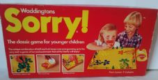 SORRY BOARD GAME - BY WADDINGTONS - 1980 - CLASSIC CHILDRENS GAME OF SKILL AND LUCK - 100% COMPLETE