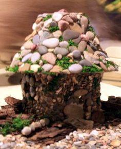Easy DIY Stone Veneer for Fairy GardenHouses | The Fairy Garden on WordPress.com