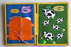 Barnyard counting quiet busy book 10 pages Ready made by TomToy