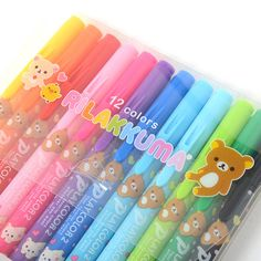 picture of Rilakkuma Play Color 2 Double-Ended Color Pen Set (12 Colors) 2