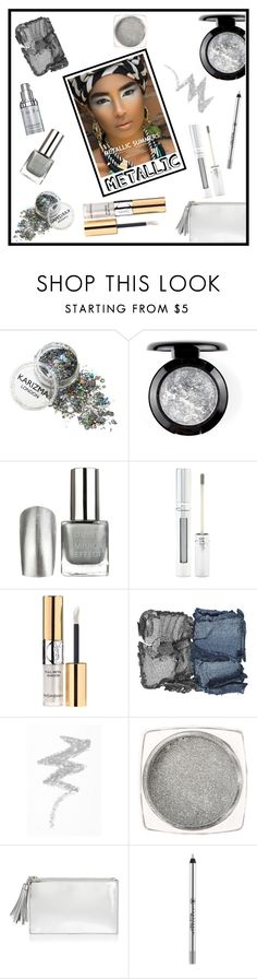 """""""Shine On: Metallic Makeup"""" by tlb0318 ❤ liked on Polyvore featuring beauty, Forever 21, Yves Saint Laurent, NARS Cosmetics, NYX, Loeffler Randall, Anastasia Beverly Hills and Natura Bissé"""