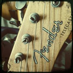 Vintage Tele headstock- spaghetti Fender logo!