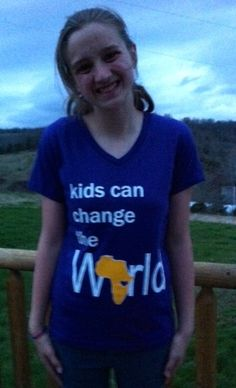Kids can change the World T-shirts-- Ladies