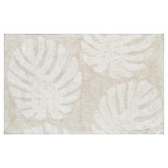 "Bath Rug Palms - Brown/Cream - (20""X34"