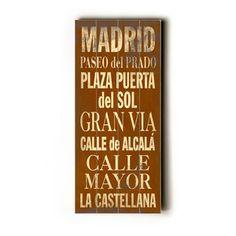 Madrid Transit Sign