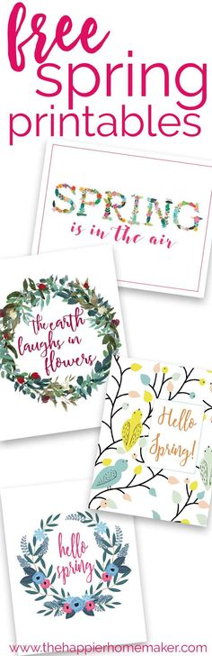 free Spring Printables are an easy, inexpensive way to update your decor