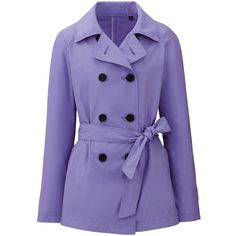 Uniqlo Women Short Trench Coat ($80) ❤ liked on Polyvore