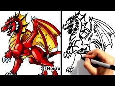 """How to draw a dragon"" in under 3 min! Learn how to draw a dragon step by step in this Fun2draw drawing tutorial. SUBSCRIBE for new vids EVERY WEEK :) Watch 100+ easy drawings: http://www.youtube.com/Fun2draw      Check out these AWESOME Fun2draw playlists :3    How to Draw Dragons!  http://www.youtube.com/playlist?list=PL6D61D9B57C775F96    How to Dra..."