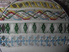Drawn thread sample
