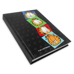 """Garfield 5-In-1 Notebook. """"Pen down your thoughts and experiences in an organised manner with this stylish, Garfield themed notebook. This five subject notebook is an ideal way to keep your notes according to subjects, topics or projects."""" #Cheers!"""
