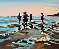 """Saatchi Online Artist: Elizabeth Lennie; Oil, Painting """"The Conversation"""""""