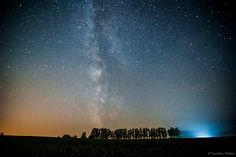 Stars all over the northern sky in Hokkaido, Japan.
