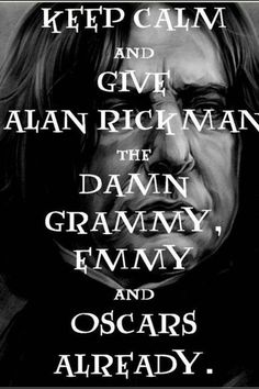 but seriously just give alan everything.