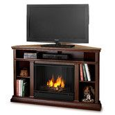 """$831 - Found it at Wayfair - Churchill 51"""" Ventless TV Stand with Gel Fuel Fireplace Overall: 33.125"""" H x 50.75"""" W x 30.5"""" D"""