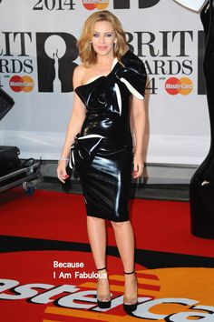 Fabulously Spotted: Kylie Minogue Wearing William Wilde - BRIT Awards 2014 - http://www.becauseiamfabulous.com/2014/02/kylie-minogue-wearing-william-wilde-brit-awards-2014/