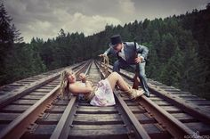 """IMGUR had this posted as """"unconventional engagement picture"""".... idea? yes."""