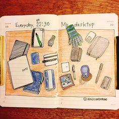 デイリーダイアリー  だいたい22:30くらいの時間、テーブルは手帳とノートだらけのこんな感じになります。  #手帳 #ノート #手帳ゆる友 #モレスキン #moleskine #スケッチブック #スケッチ #日記 #絵日記 #スケッチジャーナル  #illustratedjournal #artjournal #artjournaling #visualjournal  #journaling #illustratedjournal #illustrateddiary #art #illustration #drawing #traveljournal #picture #artist #sketch #sketchbook #sketchjournal