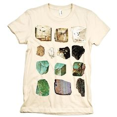 MINERALS Tshirt Geology Science tee WOMENS rocks shirt