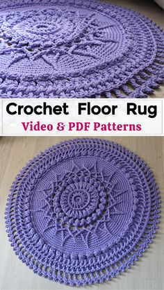 Crochet Mat, Crochet Shrug Pattern, Crochet Carpet, Crochet Home, Crochet Patterns Amigurumi, Cute Crochet, Beautiful Crochet, Crochet Doilies, Knit Rug