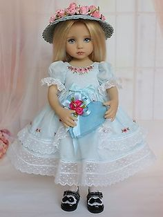 "Embroidered Ensemble for Effner 13"" Little Darling Dolls-Petite Princess Designs"
