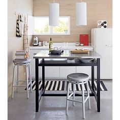Crate And Barrel Belmont Table Black Work, Work Tables, Crate And Barrel, Kitchens Tables, Crates And ...