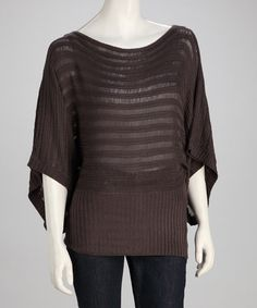 Take a look at this Charcoal Dolman Sweater by Sister's on #zulily today!