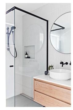 Scandinavian Bathroom Design Ideas, Modern Bathroom Design, Bathroom Interior Design, Modern Bathrooms, Bathroom Designs, Scandinavian Tile, Interior Decorating, Farmhouse Bathrooms, Scandinavian Fashion