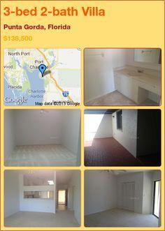 3-bed 2-bath Villa in Punta Gorda, Florida ►$138,500 #PropertyForSale #RealEstate #Florida http://florida-magic.com/properties/6219-villa-for-sale-in-punta-gorda-florida-with-3-bedroom-2-bathroom