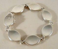 Fine Vintage Georg Jensen Silver Modernist Bracelet Flemming Eskildsen 1972 #171 #GeorgJensen #Modernist