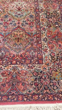 Karastan Ivory Floral Kirman Jewel Tone 759 Rug 11 4 By