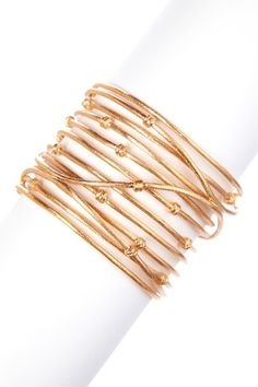 18K Rose Gold Clad Wrapped Knotted Mina Cuff  -Rivka Friedman