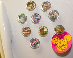 Show Your DIY Disney Side: Disney Parks Guide Map Magnets - How to make cool magnets using Disney Parks Guide maps