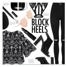 """""""Untitled #1862"""" by mycherryblossom ❤ liked on Polyvore featuring Topshop, Michael Kors, Marc Jacobs, Lipstick Queen and beautyblender"""