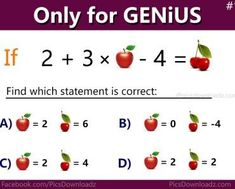 Math can be a little tricky if you don t pay attention to details but this is a pretty simple equation right.. So can you solve it.. Make sure you thoroughly count the number of bananas on the third and fourth lines click the next page for the answer.. Image via the mind aware answer.. Fruit math equation apple 7.. By admin june 15 2017.. Fruity brain teaser stumping the internet math problem with can you solve this simple math equation the viral apple banana orange puzzle with answer genius…