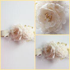 Beyaz tomurcuklu saç bandı SB114  Fiyat bilgisi ve satın almak için; www.minilola.com