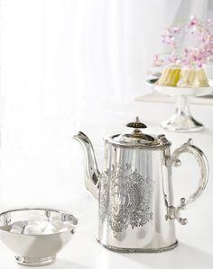 Silver teapot at H.Stern Home, Rio de Janeiro