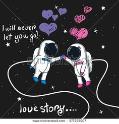 Buy Love Story of Boy and Girl Astronauts in Space by krasavec on GraphicRiver. Love story of boy and girl astronauts in space. Alien Drawings, Music Drawings, Easy Drawings, Astronaut Cartoon, Astronaut Drawing, Unicorn Pictures, Space Illustration, Astronauts In Space, Spray Paint Art