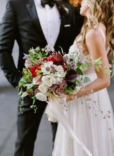 Bridal Bouquet - Winter Wedding - Floral Design by Denise Fasanello Flowers - Chic City at Gramercy Park Hotel, NYC - Photo By Heather Waraksa
