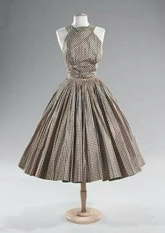 Gingham halter vintage style dress