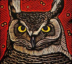 long-eared owl  by Lisa Brawn, via Flickr